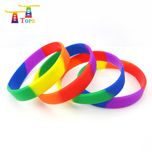 new arrival promotion silicon wristband debossed or embossed rubber band led light bangle custom printing silicone bracelet