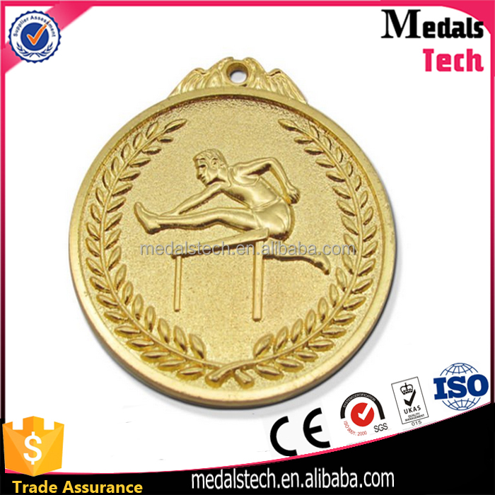 Good Quality And Custom Design Medallion Award metal souvenir hurdling race medal
