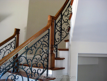 2017 latest wrought iron stair handrail