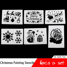Christmas Stencils for DIY Walls/Floors/Windows Decoration Drawing and Painting Template Stencils
