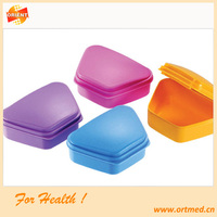 dental product China,Denture Storage Box,Colourful Orthodontic Retainer Case