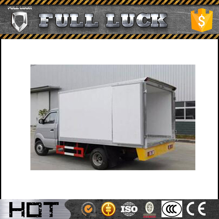 Sinotruk 1.5ton Mini refrigerator box van truck for meat and fish