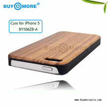 durable and luxury wooden protection back cover for apple iphone 5