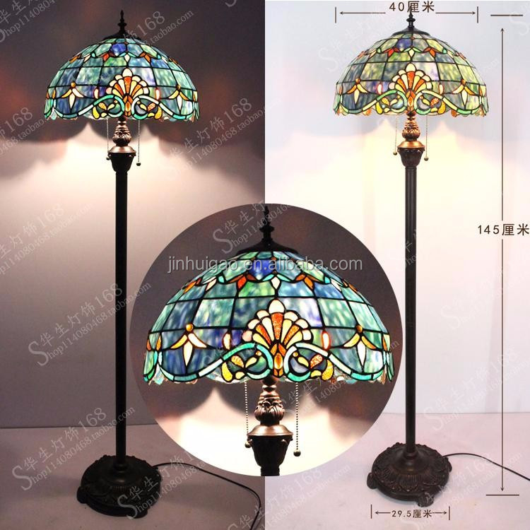 Mediterranean Style tiffany floor standing lamp stained glass led floor lamps for Home decor