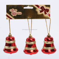 new hot items for 2015 small gold plastic hand made decorative customized jingle bell ornament
