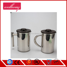 Small Stainless Steel French Press - 3 cups Coffee Plunger, Press Pot