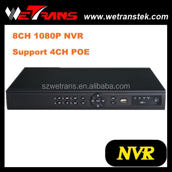 Wetrans TN-808P4 HDMI 1080P 4 Channel POE Onvif NVR With Cloud Technology P2P