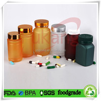 Opaque plastic food storage bottles/containers/jars/tubs screw top lid