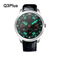 Q3 Plus Round Screen Andriod IOS Monitor Step Bluetooth 4.0 Smart Watch