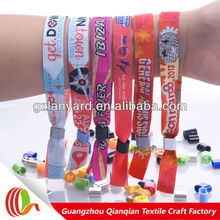 2014 branding self design fabric fastener turkish souvenirs polyester festival fabric wristband for christmas decorations