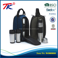 Factory custom portable lightweight outdoor camping waterproof insulated wine bottle cooler tote bag