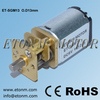CE, RoHS approval 13mm precise toy 3V 6V dc geared motor