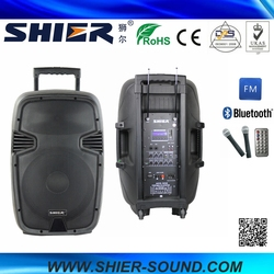 AK15-302 SHIER Top Selling Product Portable Bluetooth Speakers Subwoofer With FM Radio