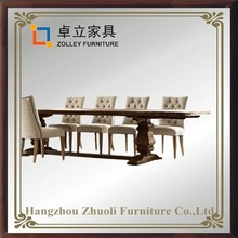 chinese factory wooden laminate top dining table