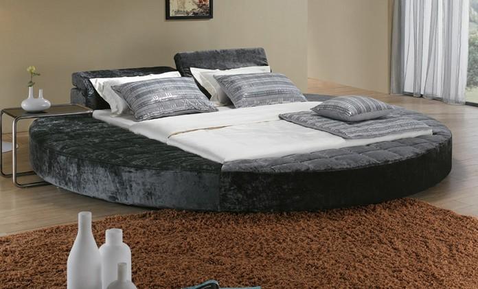 Big grey round platform bed set2014 buy big grey bed set for Round bed designs with price