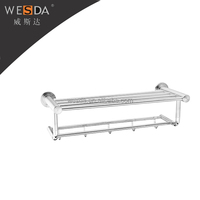 WESDA top sell high quality bathroom brass unique bath set double towel bar