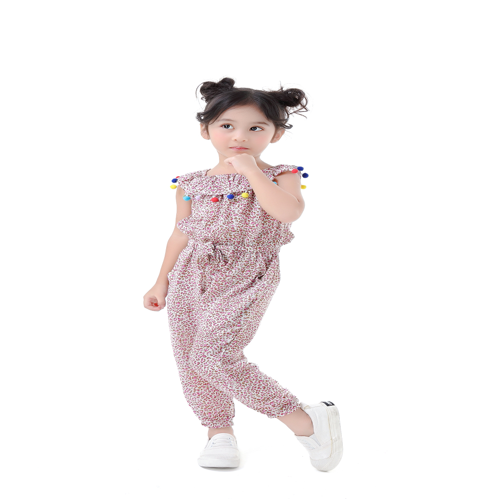 new design leopard patterns cotton baby girl bloomers romper for toddlers summer wear kids clothing