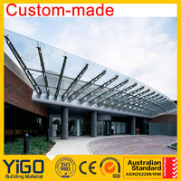 Exterior Door Steel Glass Canopy Awnings