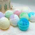 Natural colorful SPA skin whitening gift set OEM bubble bath bomb