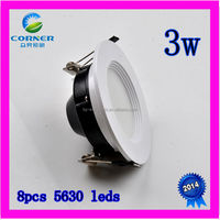 2014 high power 3w 240lm smd5630 down light led for home led downlight