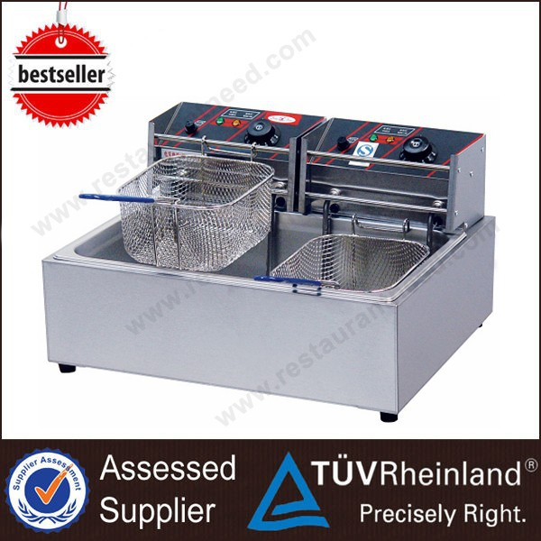 (Ce Approval) High Quality 1-Tank 2-Basket Commercial Industrial Multipurpose Deep Fryer