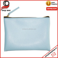 pu leather sky blue girl fancy mini coin pouch fashion change purse