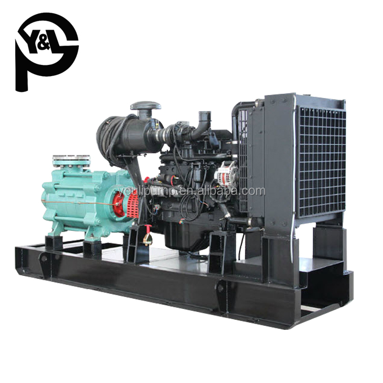 diesel engine driven dewatering horizontal multistage pump