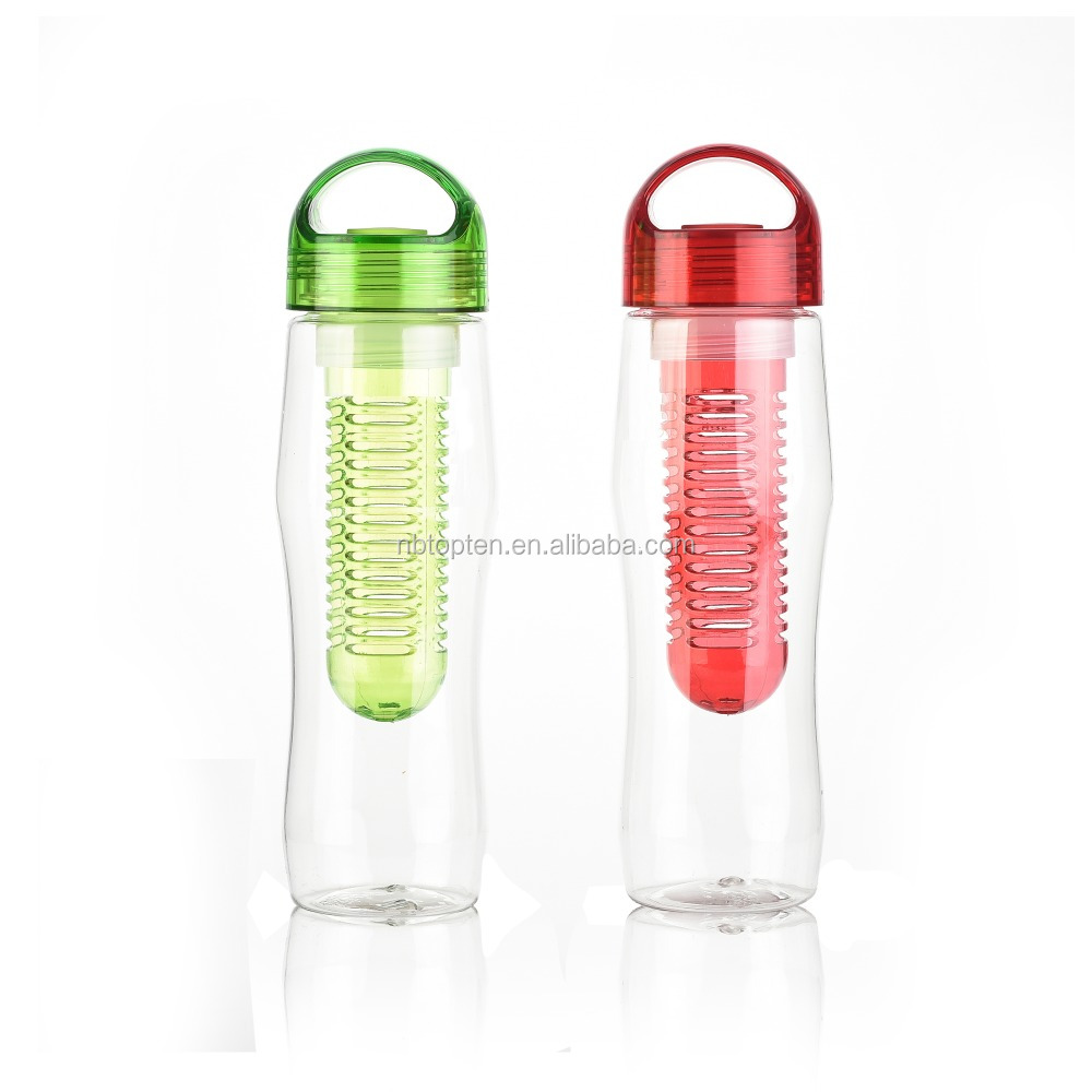 Sport goods eco friendly drink bottle plastic 900ml clear plastic juice bottle with fruit filter
