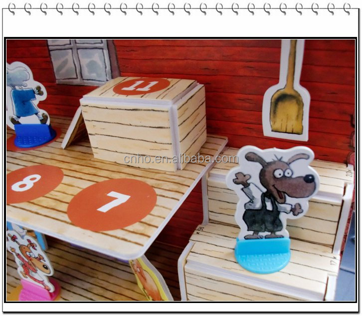 building customized model for kids paper mini diy doll house puzzles