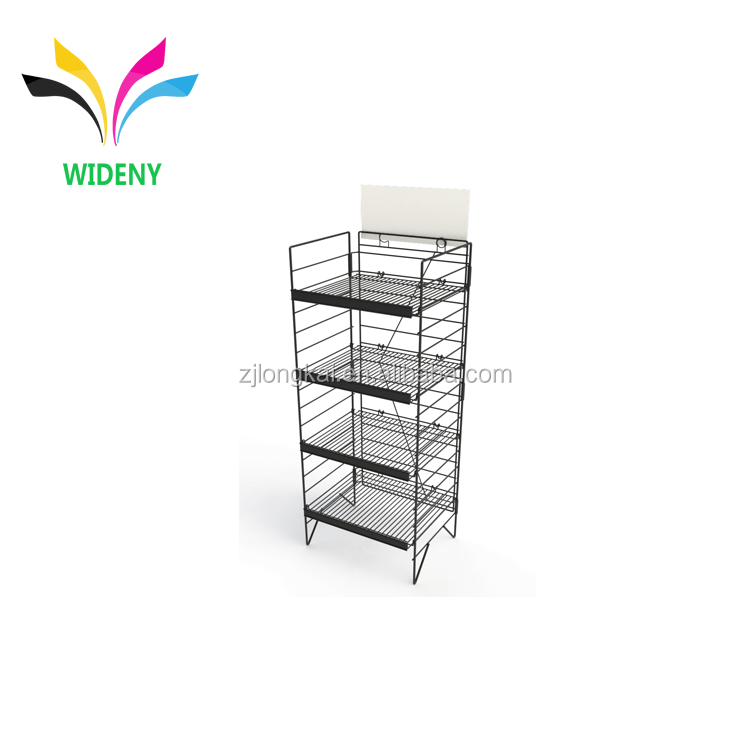 Best selling shop retail floor stand detachable oem metal pillow display stand