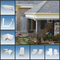 Kenya Colorful PVC Rain Gutter/Rain Water Collector System/Rain Downspout