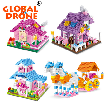 WLtoys building block pinky houses collection 4 styles for kids educational girls best gift