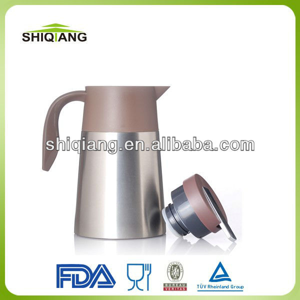 1.2L BPA Free Personalized Double Wall Stainless Steel Enamel Coffee Pot Can Keep Hot And Cold 24 Hours