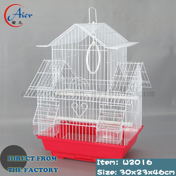 white metal and wrought iron bird cage on sale