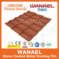 Wanael noise-insulation stone-coated metal roof tile/metal roof decrabond roofing system
