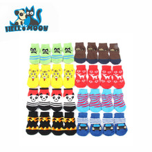 New Holiday Style Pet Medium Small Cotton Waterproof Pet Dog Doggy Shoes Lovely Soft Warm Knitted Socks For S-XL