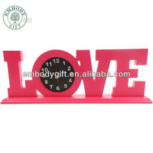 Fashion design antique table clock, 3d table clock, modern table clock