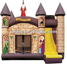 2012 hotsale inflatable wizard bouncy and slide combo