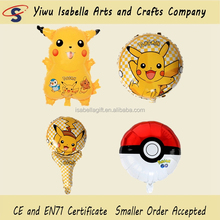 Made In China Party Decoration Novelty Design Pikachu Shape Helium Foil Material Pokemon Doll Balloon For Kids Toys