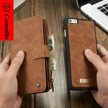 2016 Accessary Mobile Phone Cover Case for iPhone 6, CaseMe Leather Wallet Case for iPhone6, for iPhone 6 Cover