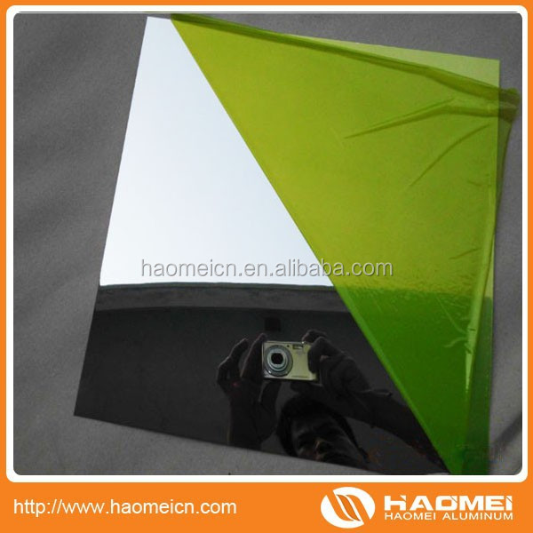 best price stamped aluminum mirror sheet/Aluminum Mirror Reflectors made in china