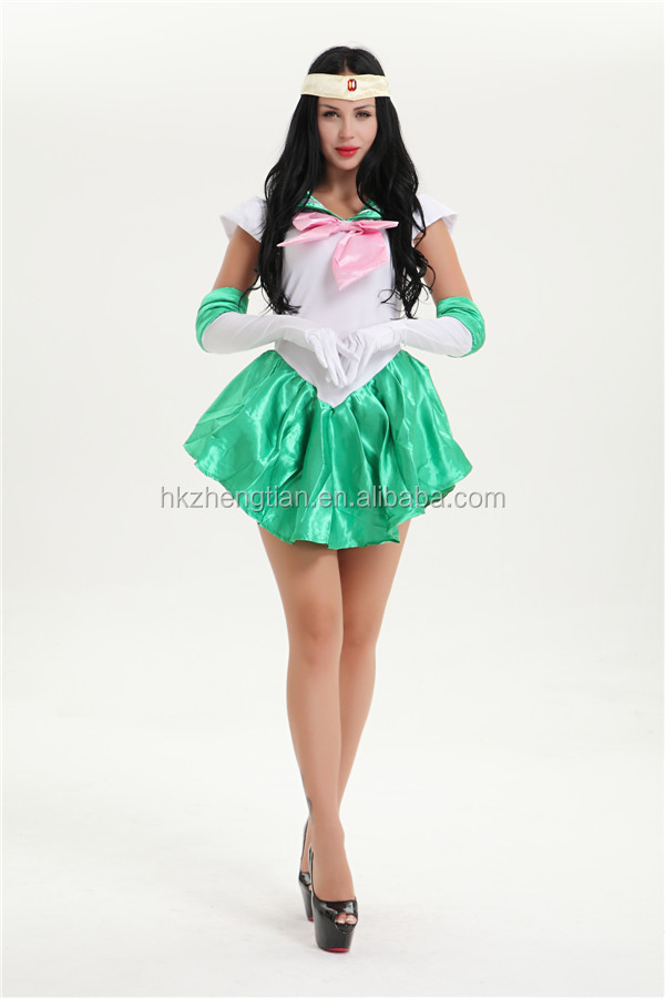 2016 cheap halloween walson wholesale sexy lingerie 487 green sailor moon costumes
