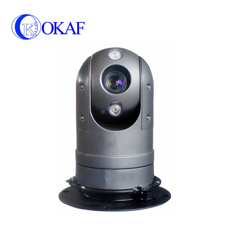 All metal IP/SDI/AHD/Analog Outdoor vehicle mounted IP CCTV PTZ Dome security camera