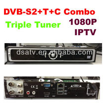 YouTube hd media play 1080P Iptv set top tox dvb s2+ C+T triple dvb combo mpeg4 hd receiver hd satellite receiver