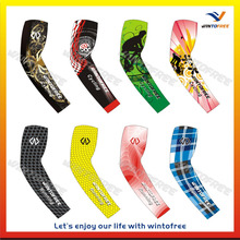 Custom sublimated Spandex Arm Sleeves, cycling arm sleeves,UV arm sleeves