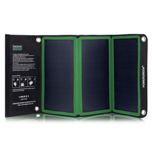 PowerGreen Foldable Solar Sun Power Charger 21W Battery Energy Backup Pack for Traveling