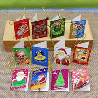 New products handmade mini christmas greeting card on display sheet