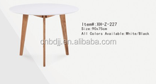 new arrival classic dining table modern furniture MDF dining table with oak wood legs