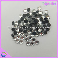 flat back cristal glass beads for shoes decoration