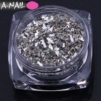 A-NAIL 2017 New Irregular Natural Matel Nail Stone Sand Easy Use Nail Accessories for 12 Colors Tips Decoration